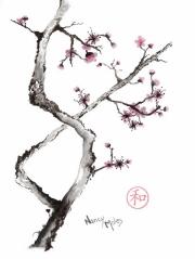 Criss-Cross Plum Blossom