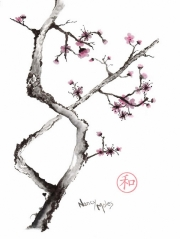 Criss-Cross Plum Blossom