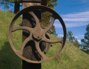 Rusting Wheel, North Star Mining Museum