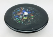 Glass Oil Lamp Base - Black, Dichroic