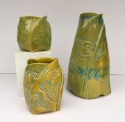 3 Big Fish Vases