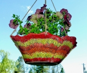 Hanging Planter Red Shallow