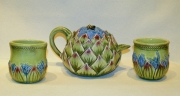 Artichoke Teapot & Cups