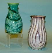 Eggplant & Turquoise Vases