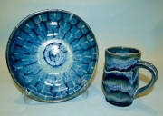 Navy & Blue-green Bowl & Cup