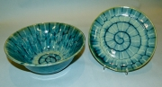 Teal & Blue-green Bowl & Plate