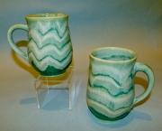 Turquoise & Titanium Cups