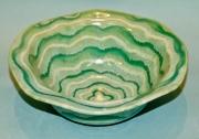 Turquoise & Titanium Wavy Bowl