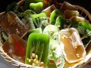 Beautifully decorated bars; assorted bars of Sage, Manzanita, Pine