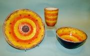 Orange-yellow Bowls & Cup