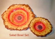 Orange, Yellow, Purple Salad Bowl Set