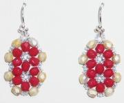 Vivid Red Earrings